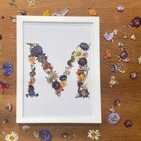 Pressed Flower Inital Print