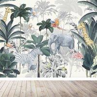 Jungle Wallpaper Mural For Nursery