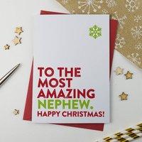 Most Amazing Nephew Christmas Card