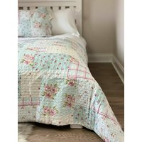Luxury Patchwork Style Quilted Bedspread