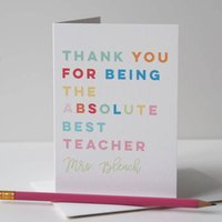 Thank You Teacher Or Teaching Assistant Card