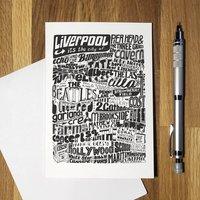 Liverpool Landmarks Greetings Card Birthday Card