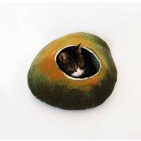 Cat Bed In Autumn Tones