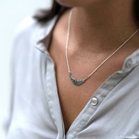 Silver Angel Wings Necklace, Silver