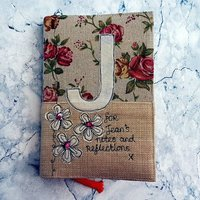Personalised Notebook,Beige Floral