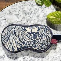 William Morris Marigold Indigo Lavender Eye Mask
