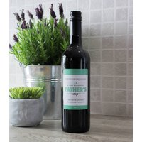 Fathers Day Personalised Wine