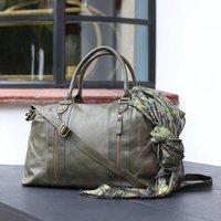 Leather Holdall Weekender Bag