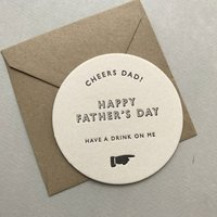 Fathers Day Beer Mat Card
