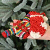 Fairtrade Handmade Mini Wool Christmas Tree Decorations