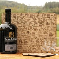 Four Oak Engraved Whisky Placemats