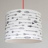 Native Arrows Handmade Paper Lampshade, Black/White/Yellow