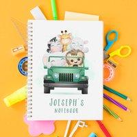 Personalised Safari Children's Hardback Notebook