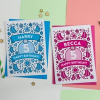 Personalised Bee's Illustrated 5th Birthday Card