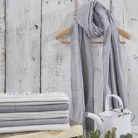 Grey Scarf / Wrap / Pashmina Collection, Grey/Black/White