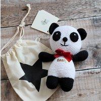 Handmade Personalised Panda Bear
