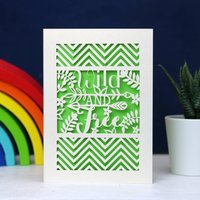 Wild And Free Papercut Card