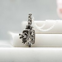 Movie Camera And Actress Charm Necklace