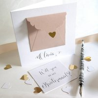 Personalised Matron Of Honour Precious Message Card