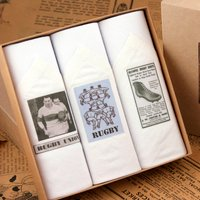 Box of Mens Handkerchiefs: Rugby