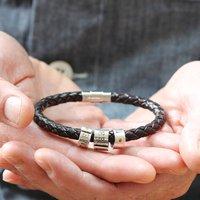 Personalised Silver Mens Bracelet, Silver