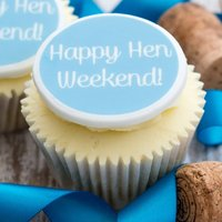 Happy Hen Weekend Cupcake Decorations, Lilac/Pink/Blue