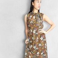 Puglia Floral Maxi Dress Brown