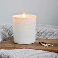 Personalised If I Know What Love Is Scented Candle