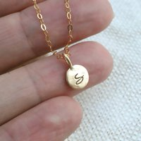 9ct Solid Gold Personalised Necklace, Gold