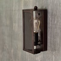 Antiqued Bronze Gauzed Wall Light