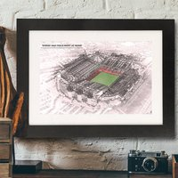 Personalised Illustrated Old Trafford Stadium Print