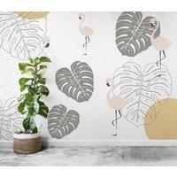 Flamingo Wallpaper Mural