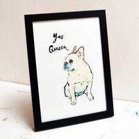 French Bulldog Illustration Print