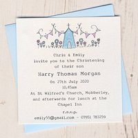 Personalised Pack Of Christening Invitations, Pink/Blue