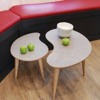 Bean And Comma Pair Of Tables