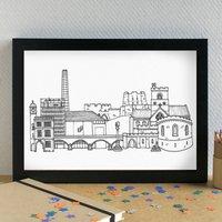 Carlisle Skyline Cityscape Art Print Unframed