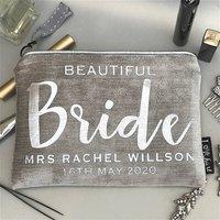 Bride Luxury Velvet Clutch Bag With Silver Trim, Silver/Gold