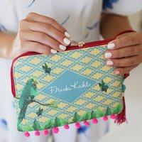 Frida Kahlo Parrot Make Up Bag