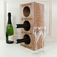 Personalised Solid Oak Wine Rack