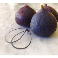 Fig Oxidised Silver Drop Earrings, Silver