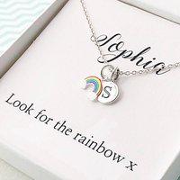 Personalised Rainbow Necklace