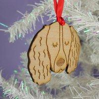 Springer Spaniel Wooden Christmas Decoration