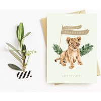 Father's Day Card Lion Cub