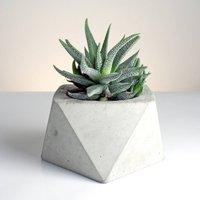 Square Antiprism Geometric Concrete Planter