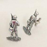 Pewter Fisherman Cufflinks