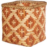Woven Terracotta Bamboo Storage Basket