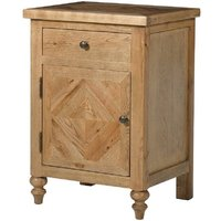 Chester Oak Parquet Bedside Cabinet With Drawer