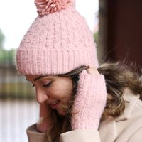Soft Knit Hand Warmers In Pink