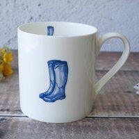 'Wellingtons' China Mug