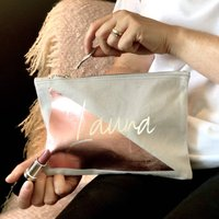 Personalised Giant Triangle Make Up Bag